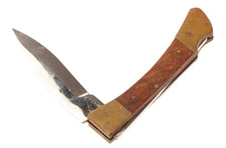 penknife: temperino isolato su uno sfondo bianco Archivio Fotografico