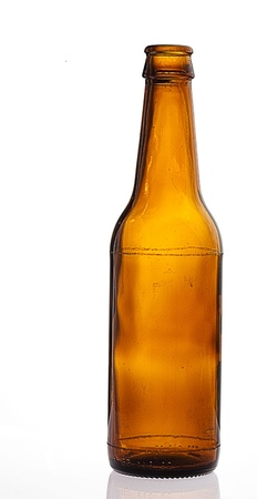 single beer: beer bottle isolated on white background