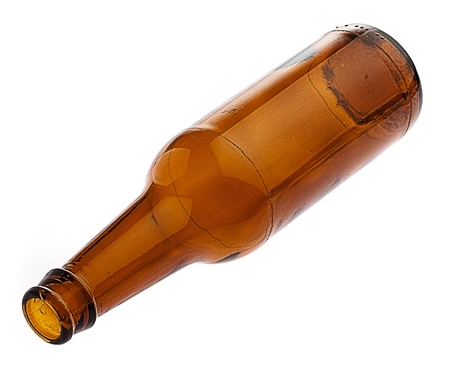 alcohol bottles: beer bottle isolated on white background