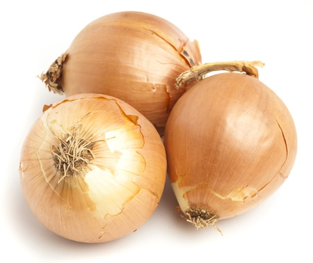 onion stack isolated on a white background photo