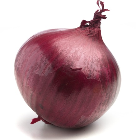 onion isolated: purple onion isolated on a white background Stock Photo