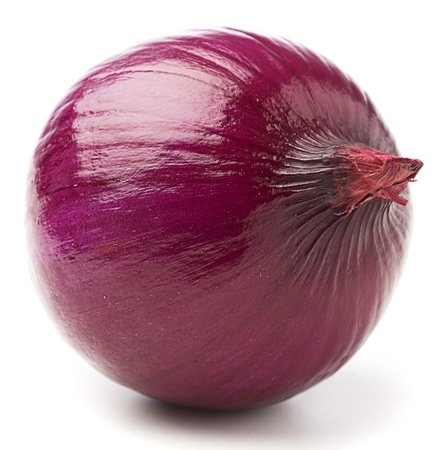 sweet and savoury: purple onion isolated on a white background Stock Photo