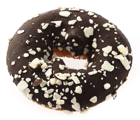 chocolate donut isolated on a white background Stock Photo - 10364382