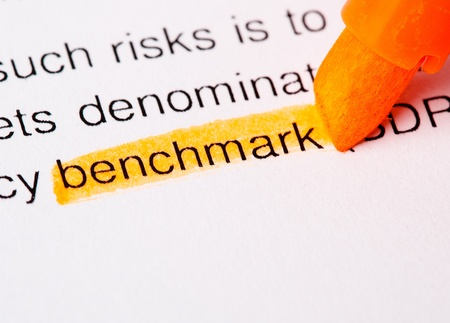 cash flow statement: benchmark word highlighted Stock Photo