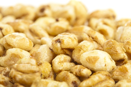 extreme closeup of sweets corn cereals bowl  photo