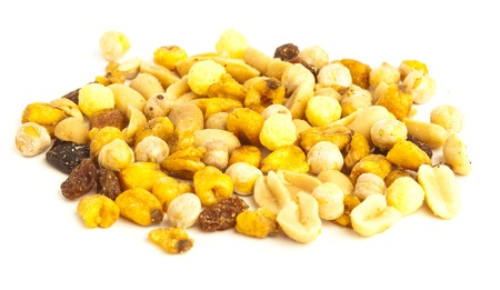 dry nuts isolated on a white background Stock Photo - 10382084
