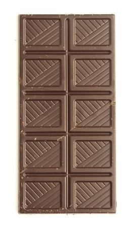 chocoladereep geïsoleerd op een witte achtergrond Stockfoto