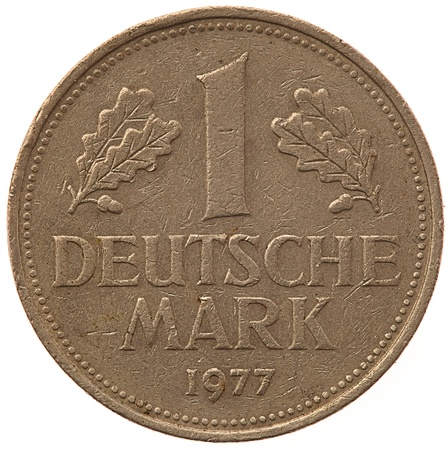 german mark isolated on white background photo