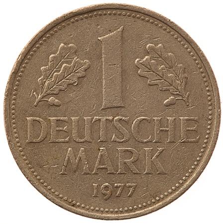 german mark: german mark isolated on white background