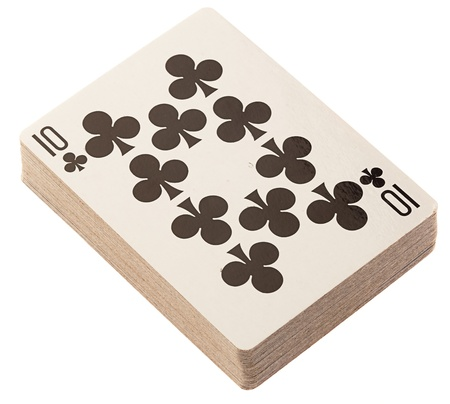 poker deck on a white background photo