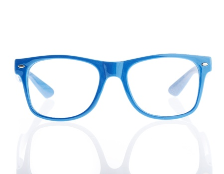 funky: vintage eyeglasses on a white background