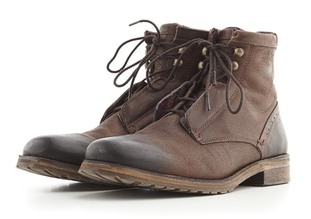 brown boots isolated on a white background photo