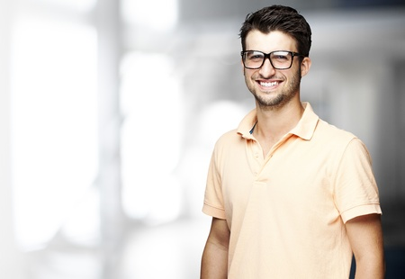 portrait of a handsome happy man indoor Stock Photo - 11507505
