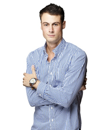 portrait of a handsome young man thinking over white background Stock Photo - 11507409
