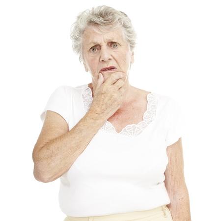 senior depression: portrait of senior woman