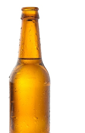 recently opened beer bottle on white background Stock Photo - 11232005