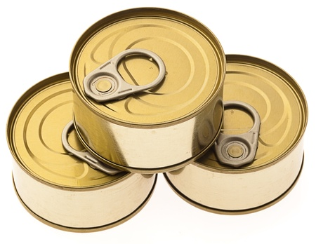canned: tuna isolated on a white background