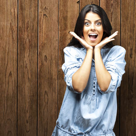 woman doing a surprised gesture Stock Photo - 13486163