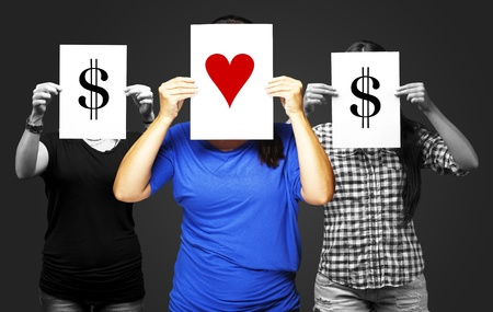 the value of love prevails over the value of money photo
