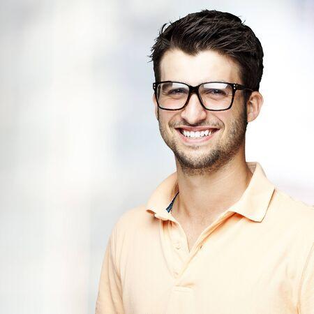 portrait of a handsome happy man indoor Stock Photo - 12656646