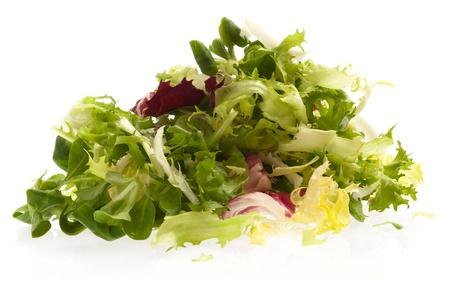 vegetables white background: fresh lettuce isolated on a white background Stock Photo