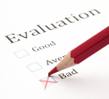 evaluation test check box, extreme closeup photo Stock Photo - 12656513