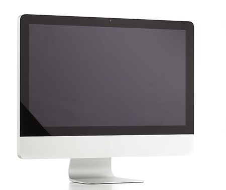 desktop computer isolated on a white background photo