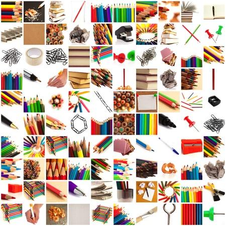 creative tools: gruppo di immagini di oggetti didattici