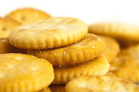 extreme closeup of a salted cookies stack Stock Photo - 12778942