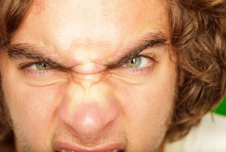 Close-up Of An Angry Young Man, Extreme Close-up Stock Photo - 14683281