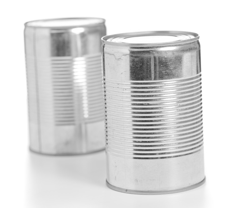 tinned: Food Tin Can On White Background