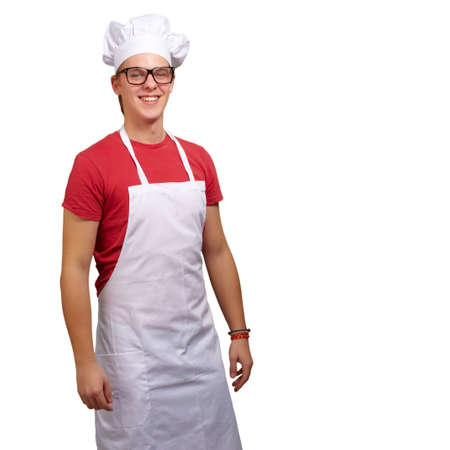 Portrait Of Smiling Chef On White Background Stock Photo - 14826068
