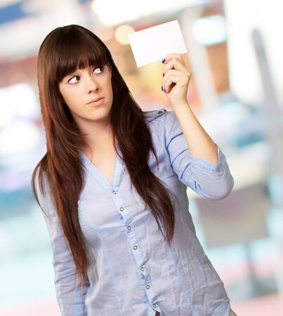 Portrait Of A Girl Holding Paper, Indoor photo