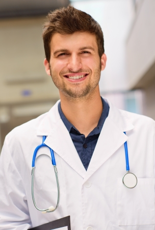 Portrait Of Young Doctor, Indoor Stock Photo - 15857287