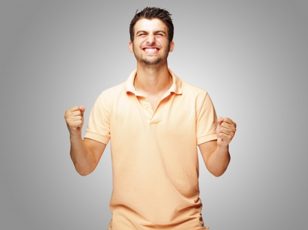 excited man: Portrait Of Excited YoungMan, Outdoor