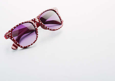 protective spectacles: Portrait Of Sunglasses On White Background