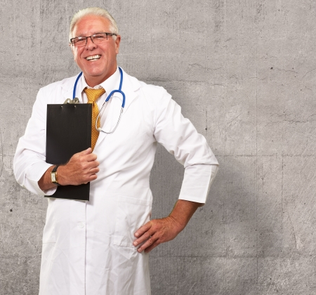 Portrait Of A Senior Doctor, Background photo
