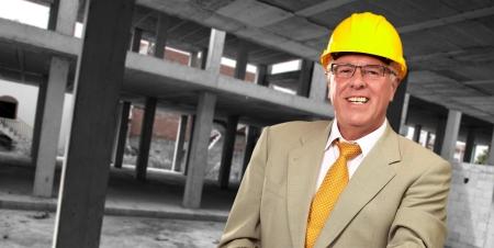 Portrait Of A Senior Architect, Indoor Stock Photo