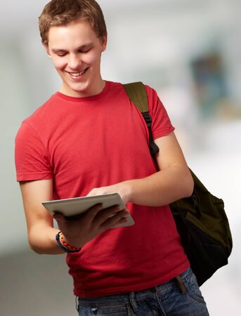 Portrait Of A Young Student, Background photo