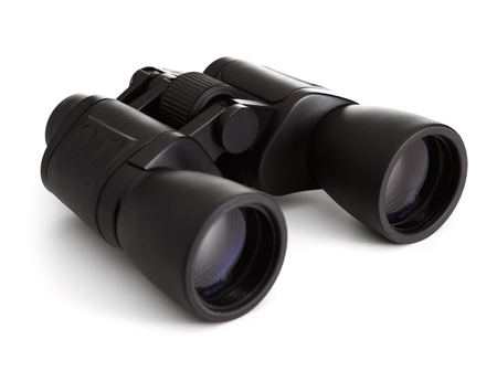 Black Binocular On White Background photo