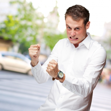 Portrait Of  Frustrated Young Man, Outdoor Stock Photo - 16690716