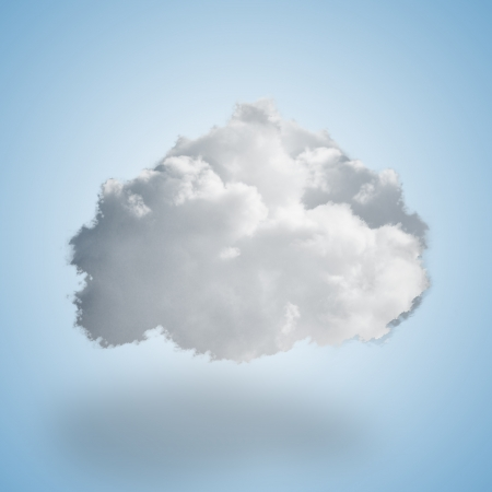 Close-up Of Clouds On Blue Background photo