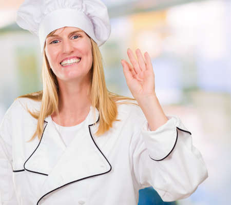 Portrait Of A Chef against an abstract background Stock Photo - 16672408
