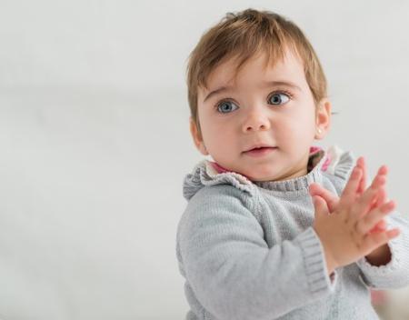 Portrait Of Cute Baby, Indoors Stock Photo - 18943702