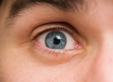 scary eyes: Close Up Of A Man Eyes