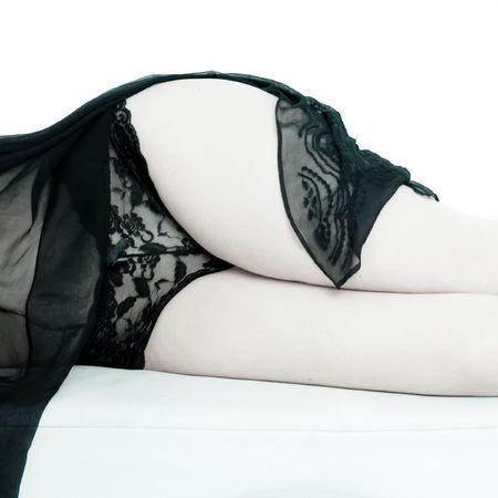 knickers: Female midsection in lace Stock Photo