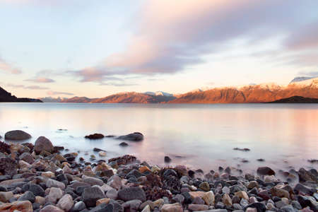 A beautiful morning and Sunrise across Loch Linnhe in Scotland, UK. Stock Photo