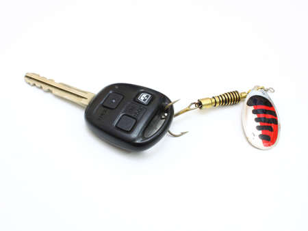 Car a key caught on a spinner for the big predatory fish photo