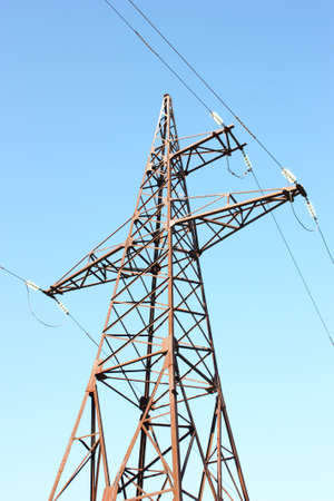 Electrical tower on a background of the blue sky Stock Photo - 8079437