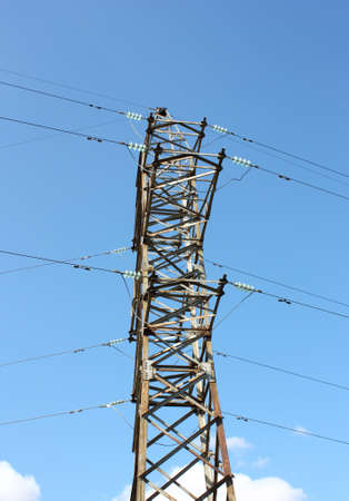 Electrical tower on a background of the blue sky Stock Photo - 8079814
